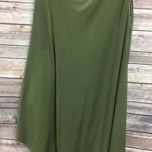 Gianni Bini One shoulder Olive Dress Small